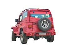 Lokalisiertes 4X4 Van Perspective Back View Lizenzfreies Stockfoto