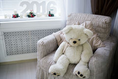Lokalisierung auf Weiß Polares Bear Lizenzfreie Stockfotografie
