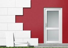 Lokalisierung einer Haus-Frontseite Stockfoto