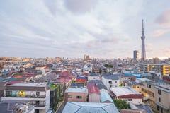 634 lokalizować metrów nieba sumida Tokyo basztowego drzewa tv oddział Zdjęcie Stock