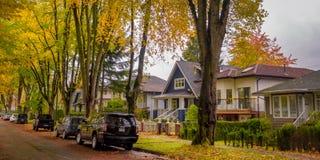Lokalizować Vancouve osiadłego terenu sezon jesienny zdjęcia stock
