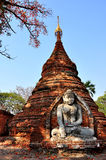 Świątynia w Inwa wiosce, Myanmar zdjęcie stock