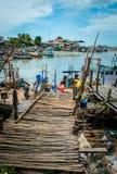 Lokalna łódź rybacka obraz royalty free