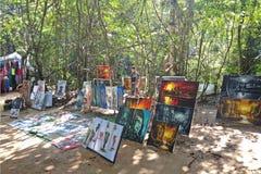 Lokalna Kambodżańska artysta praca Fotografia Stock