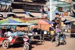 Lokalna Kambodżańska uliczna scena obraz stock