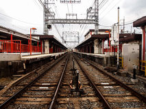 Lokalna linia kolejowa w Japonia Zdjęcie Stock