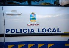 Lokalna Policja samochód od Santa Lucia fotografia stock