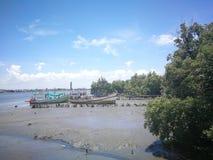 Lokalna Społeczność sposób Tajlandia życia blisko rzeki ludzie zdjęcia royalty free