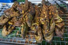 Lokalna Tajlandzka Piec na grillu ryba, Piec na grillu ryba na grillu Zdjęcia Stock