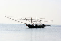 Lokalne łodzie rybackie łapali kałamarnicy Zdjęcia Royalty Free