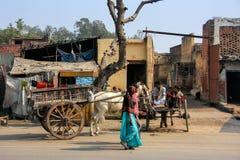 Lokalne kobiety chodzi w ulicie w Agra, Uttar Pradesh, India Obraz Royalty Free
