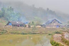 Lokalni domy Sa Pa Wietnam Zdjęcia Royalty Free
