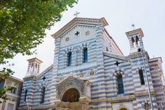 Lokalny kościół los angeles Spezia, kościół Nasz dama śniegi zdjęcie royalty free