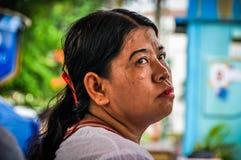 Lokalny kobieta portret w Dżakarta, Indonezja obraz royalty free