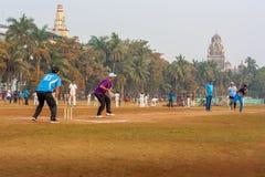 Lokalny krykieta dopasowanie przy Mumbai Obraz Royalty Free
