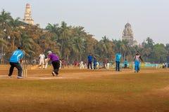 Lokalny krykieta dopasowanie przy Mumbai Zdjęcia Royalty Free