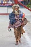 Lokalny mężczyzna odprowadzenie w Taj Ganj sąsiedztwie Agra, Uttar Prades Obrazy Royalty Free