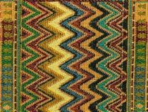 Lokalny północny Tajlandia wzoru projekt zrobił tkaninie i jedwabiowi Obraz Stock