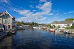 Lokalny port morski w Norwegia Zdjęcie Stock
