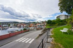 Lokalny port morski w Norwegia obrazy royalty free