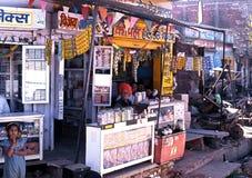 Lokalny wioska sklep, Jaipur Zdjęcia Stock