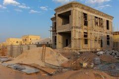 Lokalowa budowa w Zjednoczone Emiraty Arabskie obrazy royalty free
