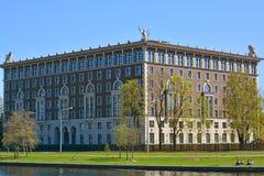 Lokalowej nieruchomości Złocisty schronienie w St Petersburg, Rosja Fotografia Stock