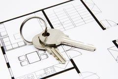 lokalowy klucz fotografia stock