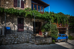Lokalt hus på Zakynthos, Grekland Royaltyfri Fotografi