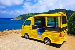 lokalt n phuket taxar thailand tuktuk Royaltyfri Fotografi