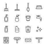 Lokalvård och rengöringsmedel Arkivfoto