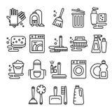 Lokalvård tvätteri, tvagning, kvast, renlighet vektor illustrationer