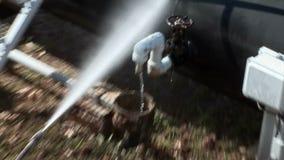 Lokalvårdrörledning med vatten lager videofilmer