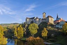 Loket城堡,捷克共和国 库存照片