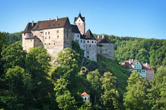 Loket. Historic castle loket, czech republic Stock Images