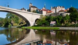Loket ?astle en été, République Tchèque Photographie stock libre de droits
