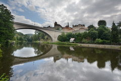 Loket, bridge reflection Stock Photo
