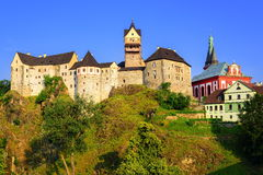 Loket Caste, Czech Republic. Medieval castle of Loket near Karlovy Vary, Czech Republic stock image