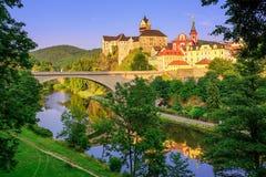 Loket Caste, Czech Republic. Medieval castle of Loket near Karlovy Vary, Czech Republic stock photography
