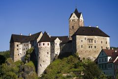 Loket castle. Czech Republic. The castle where Karl the Czech King was enclosed in his youth Stock Photo