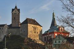 Loket castle, Czech republic stock photography