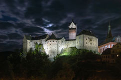 Loket Castle, Czech republic Stock Photos
