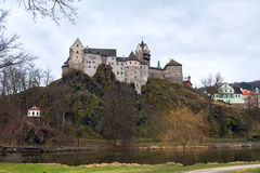 Loket castle and fortification Czech Republic Stock Photos