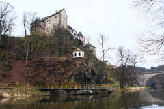 Loket castle and fortification Czech Republic Royalty Free Stock Image