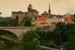 Loket in Czech Republic. View to Loket in Czech Republic stock photo