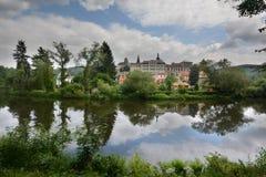 Loket, em torno da opinião de Ohre do rio Fotografia de Stock