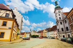 Loket main square and church Stock Images