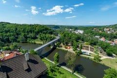 Loket miasteczka most zdjęcie royalty free
