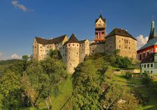 Loket-Schloss in der Tschechischen Republik Lizenzfreie Stockfotos