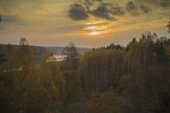Loki för Daugavas för naturreserv på floddaugavaen i Lettland Royaltyfria Bilder